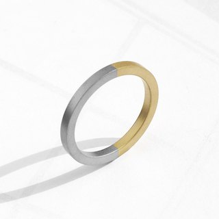 Two-Tone Minimal Ring | Matte Gold