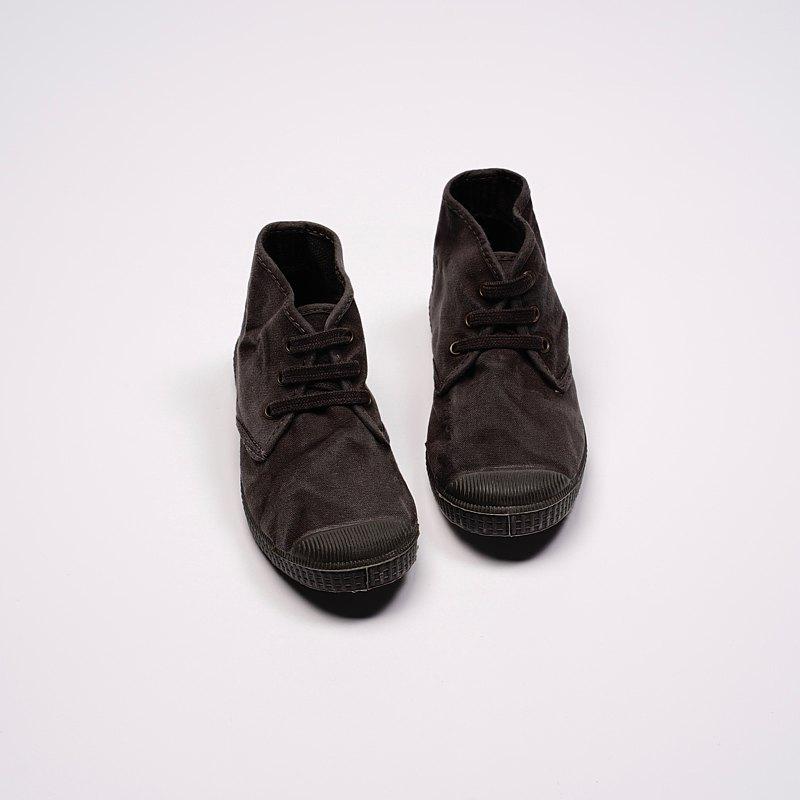 西班牙帆布鞋 CIENTA U60777 01 黑色 黑底 洗舊布料 童鞋 Chukka