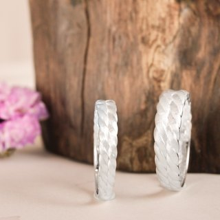 Tempered - sand surface treatment of sterling silver ring male ring