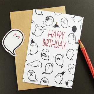 Birthday card | A ghost