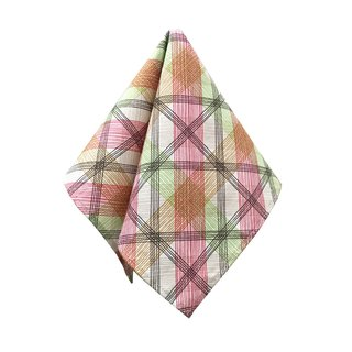 CAVEMAN Pocket Square - Green Pink Lines