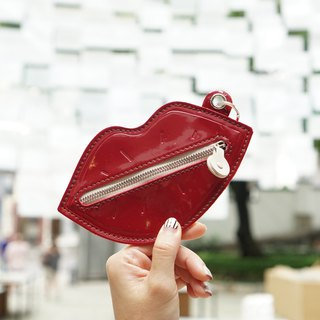 Mouth  keyring purse red color
