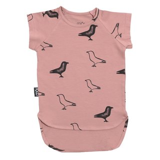 [Iceland organic cotton children's clothing] children's daily T-shirt crossing duck pink suitable age 1Y-8Y