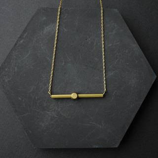 Balance Clavicle Chain - Brass Necklace