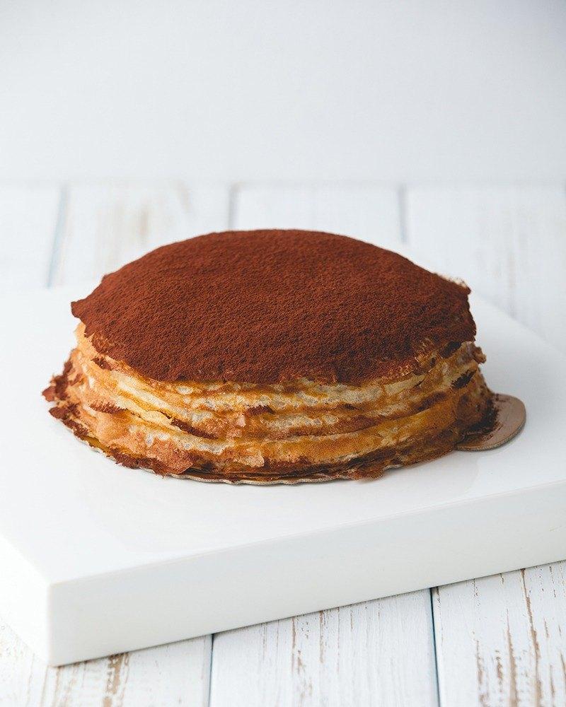 頂級超濃巧克力千層7吋#法國70%苦甜巧克力#手工鮮奶餅皮