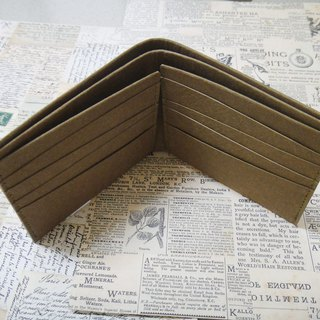 (short clip) 8 card open mezzanine wallet purely simple washed kraft paper customized typing