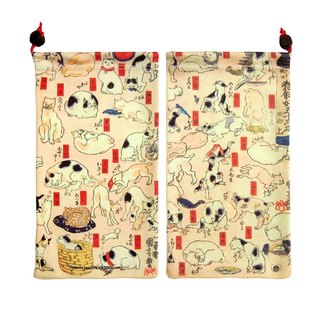 Japan Prairie Dog Big KYUKYU wipe pouch - one hundred cats music
