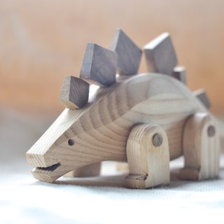 Dinosaur Friends Series - Stegosaurus Tatar handmade alder wood products can be replaced free manual lettering