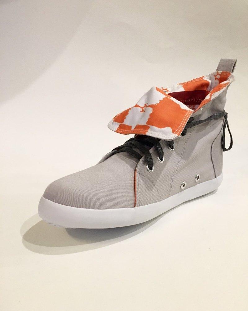矩形鑽款 No2 / 靴型帆布鞋 / 短靴
