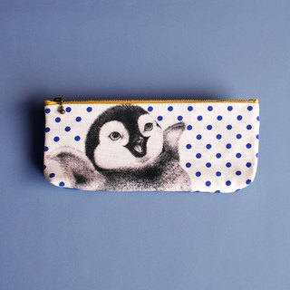 Have A Nice Day Little Penguin (Dark) Pencil Bag