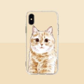 Big face fat orange embossed air shell - iPhone / Samsung, HTC.OPPO.ASUS pet phone case