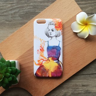 Romance Modern Girl with Flower illustration. Matte Case (iPhone, HTC, Samsung, Sony)