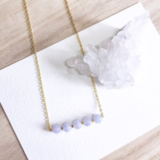 Romantic Light purple Agate Necklace