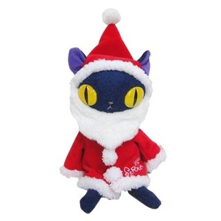 [Christmas Edition] BLUE WORLD, Japanese Blue Cat Fluffy Doll 14CM_Blue