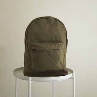 Goody bag Canvas Backpack - Large (Olive Green / Cocoa)