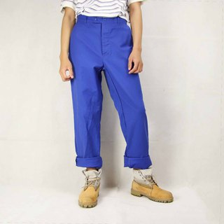Tsubasa.Y Ancient House 005 European Work Pants, Tooling Blue Trousers Work Pants