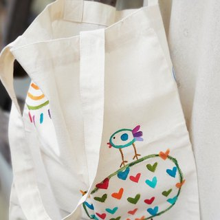 [Pure hand-painted] small bag | Reusable shopping bag | Canvas | Cute wind
