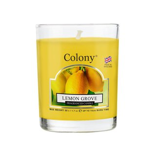 British Fragrance Colony Series Lemon Small Jar Glass Candle