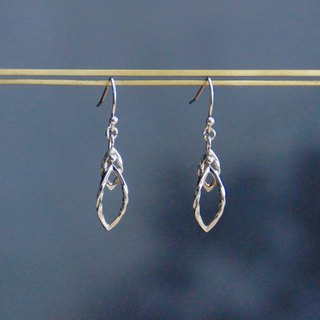 Laurel Leaves Series - Elegant Knit Laurel - 925 sterling silver hand-made earrings Free clip-on silver gift wrap