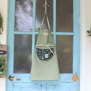 [Moon hand-made ri paternity hand made aprons - (adult section) (English letters containing 5 or less)