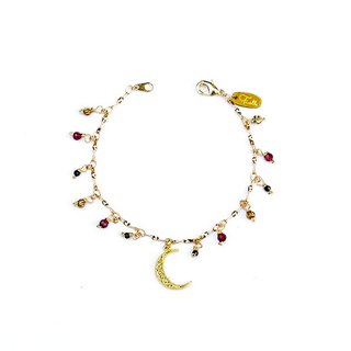 Ficelle | Handmade Brass Natural Stone Bracelet | 【Japanese Impression】 Amber Expectation