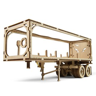 /Ugears/ Ukrainian wooden model reloading godfather accessories trailer