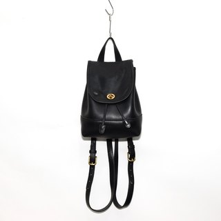 """Jumpinglady"" Vintage 1970s Coach Antique Leather Backpack"