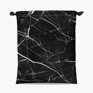 Drawstring Pouch - 束口袋 - Black Marble