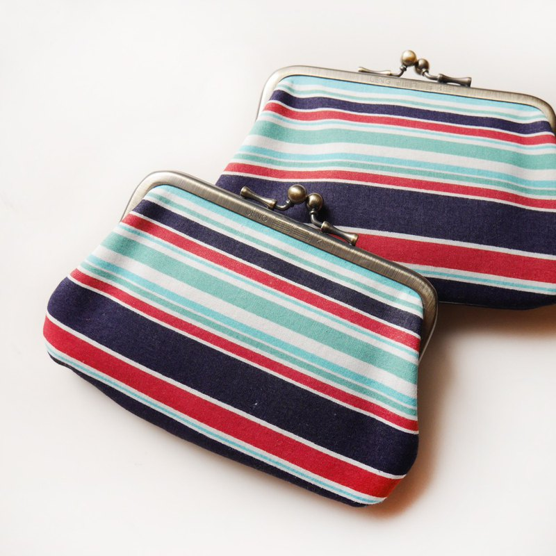 Navy Navy Gold Bun Bag / Coin Purse [Made in Taiwan]