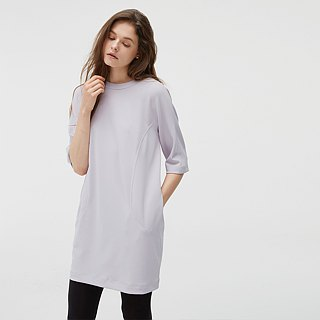 Five-Sleeve Knit Dress - Purple