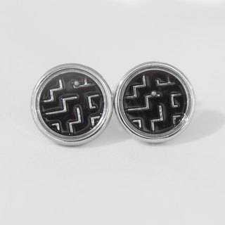 Maze cufflinks (small ball movable) Maze Cuffinks