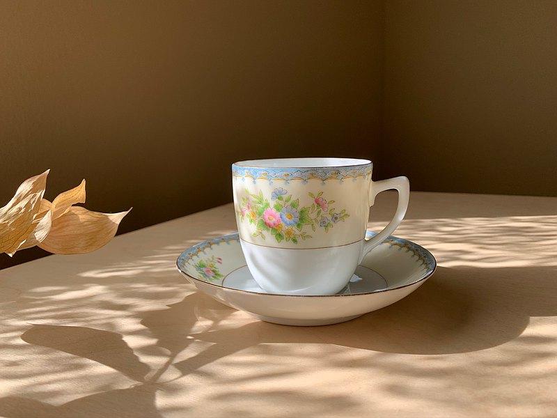 早期 / 日本手繪瓷器咖啡杯組 / 茶杯組