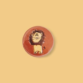 Handsome lion | children hand-painted small badge