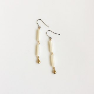 Moss Code Brass Natural Stone Styling Earrings