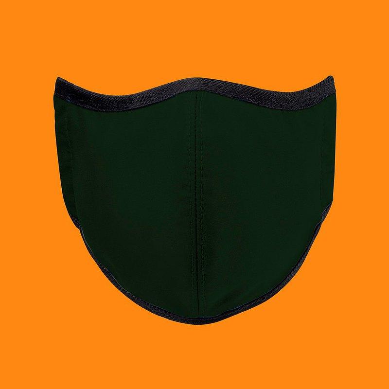 台灣製造MIT 高抗菌透氣可水洗 玩色系列_石墨綠_防護布口罩