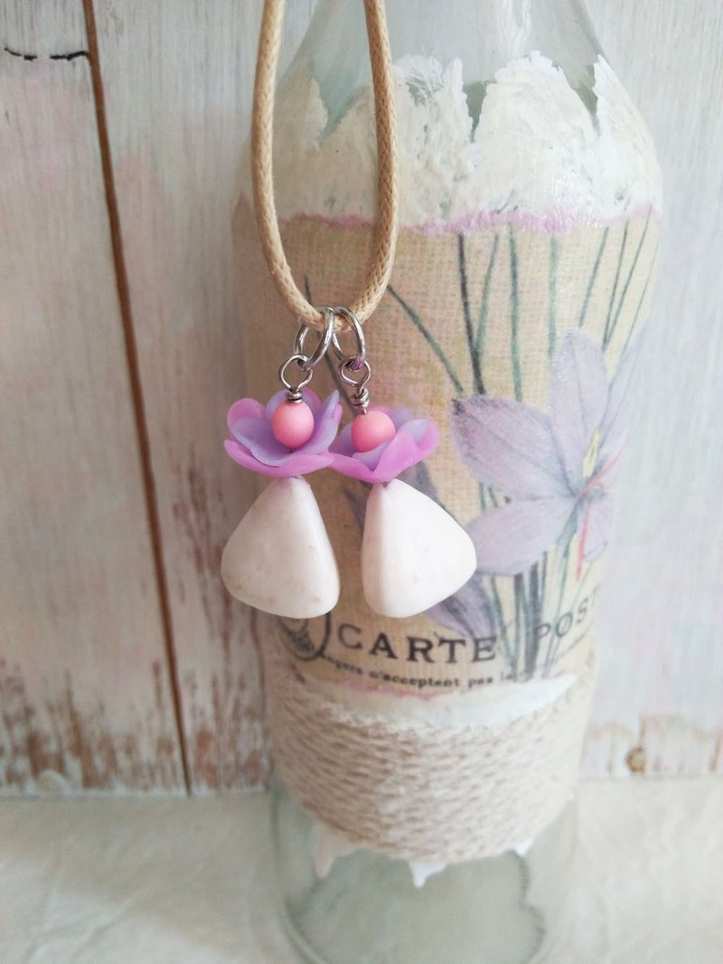Pinkish Purple, Bluish Purple, Tribal Earrings, Mixed and Matched, Gift for her