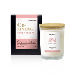 CoLiving Good Life [Sweet Breeze Sweet Breath] 100% Natural Essential Oil Soy Candle
