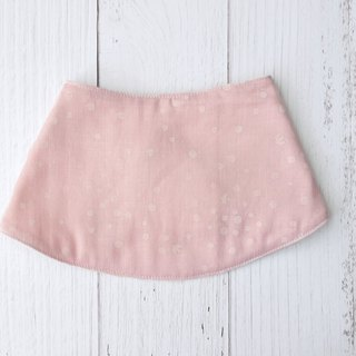 Pink scarf-style bib made in Japan, double yarn, moonlight saliva towel