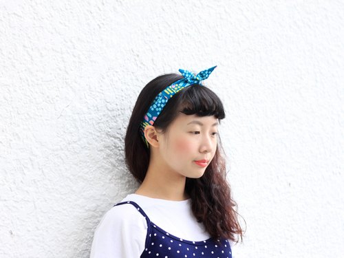 【The MAMA's Closet】Cat With Circle / Classic Headband (Green)