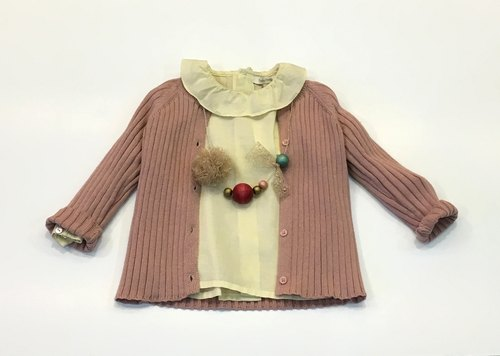 Baby Rose Red knitted jacket