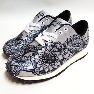 Hand-painted line drawing precision digital printing multi-function walking shoes