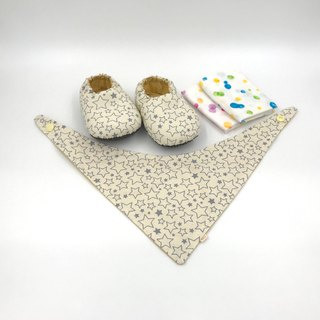 Rice Star - Miyue Baby Gift Box (toddler shoes / baby shoes / baby shoes + 2 handkerchief + scarf)