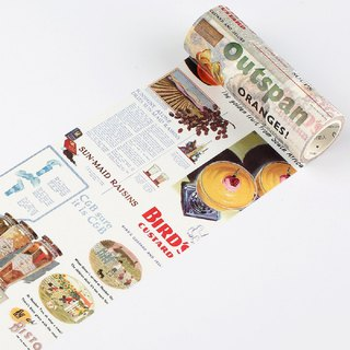 Super wide retro series and paper tape creative hand account notebook stickers DIY decorative stickers 4 optional