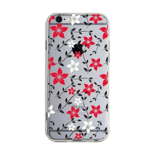 Red and White Flowers - iPhone X 8 7 6s Plus 5s Samsung Millet S7 S8 S9 Phone Case
