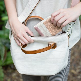 Cross-body Sweet Journey Bags S size Hand Woven Cotton Natural Color