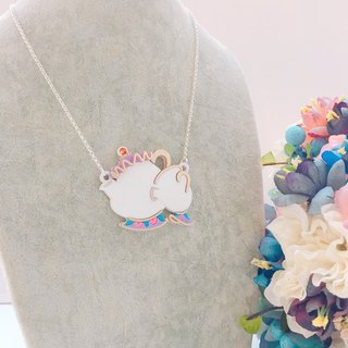 Mrs Pot and Cup Necklace