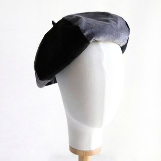 Black and gray spell color handmade double-sided hexagonal hat painters hat
