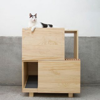 [初木] double cat cabinet - cat toilet plus cat jumping platform