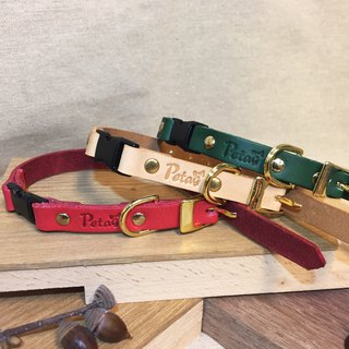 (welfare) cat safety buckle - leather collar (SS) cat collar