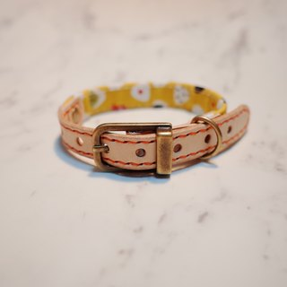 Dog collars, S size, Yellow sushi rice ball_DCJ090407